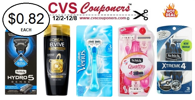 http://www.cvscouponers.com/2018/12/Venus-Razors-Schick-Razors-CVS-deals.html
