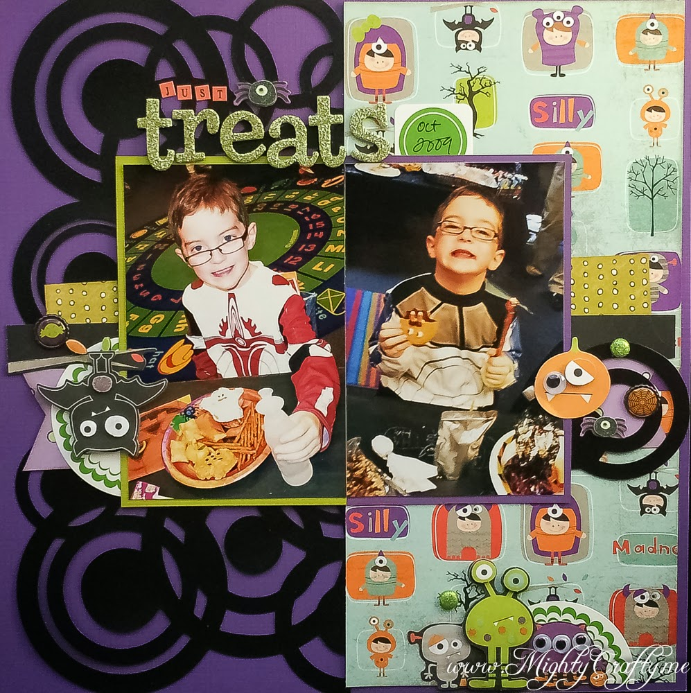 Layout for Sketch #52 from Sketch 'N Scrap -- Just Treats -- www.MightyCrafty.me