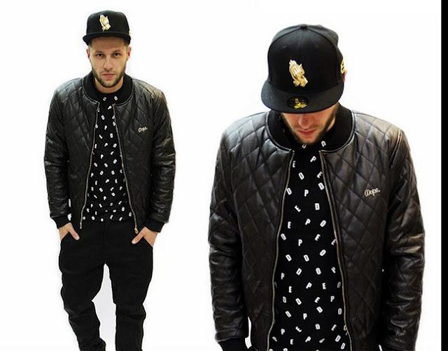 latest fashion hiphop style with black jacket. Black Bedroom Furniture Sets. Home Design Ideas