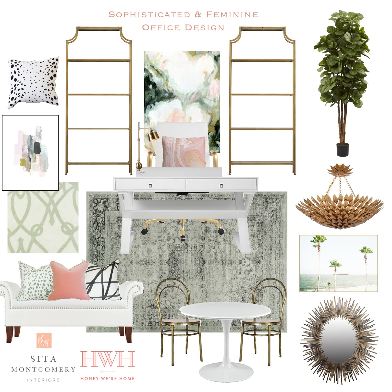 Sophisticated And Feminine Office Design Board Sita