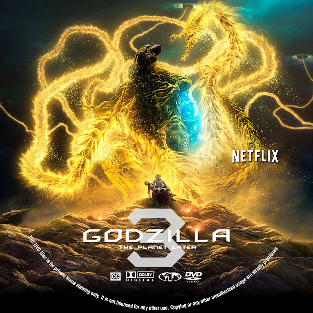 Godzilla 3: The Planet Eater Label Cover