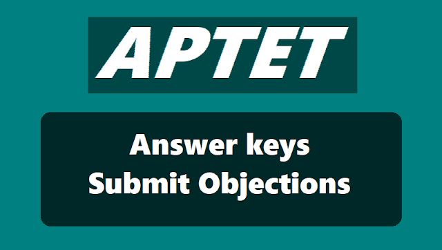 APTET Answer Key