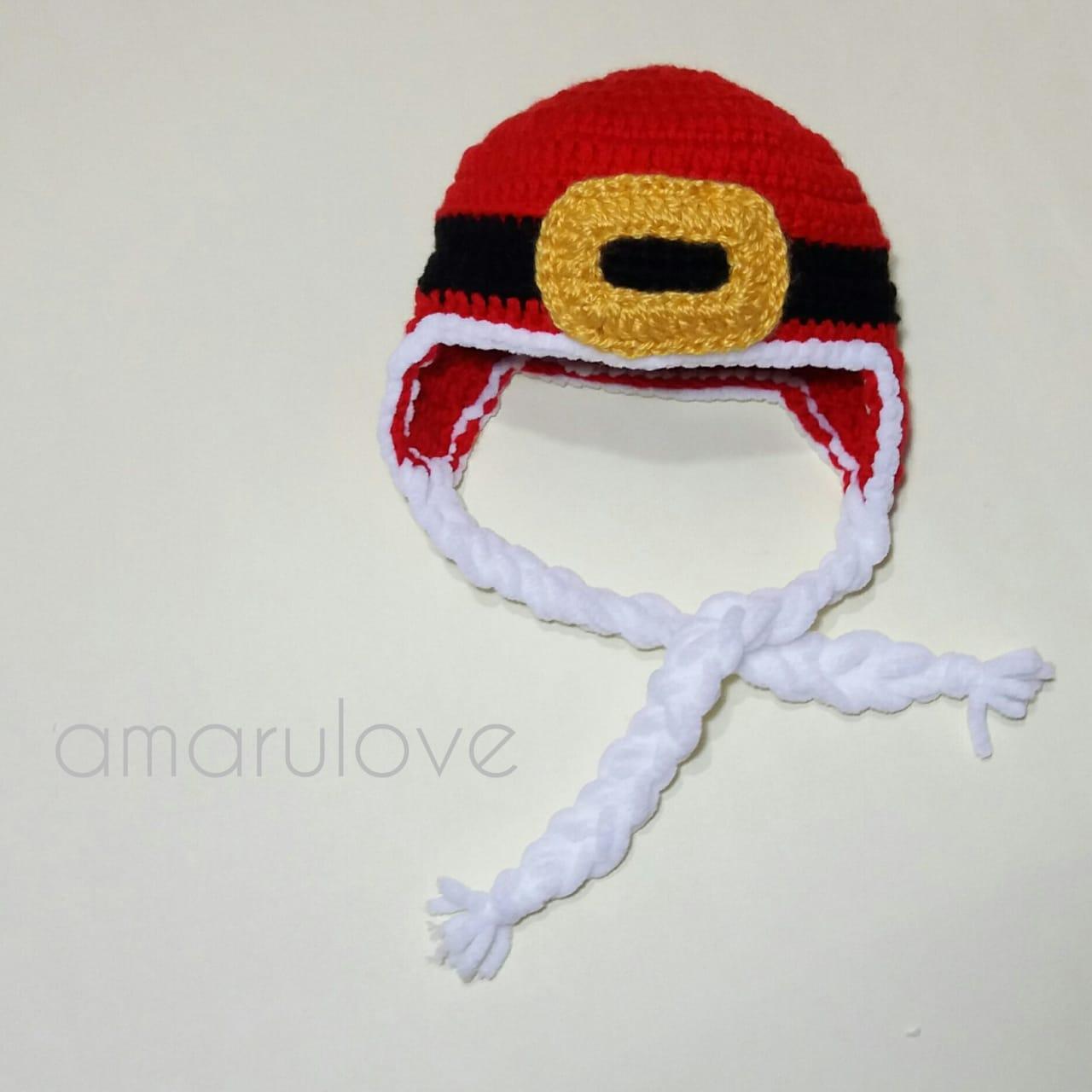 Patrón Gorro de Navidad (diseño Santa) (3-6 meses)