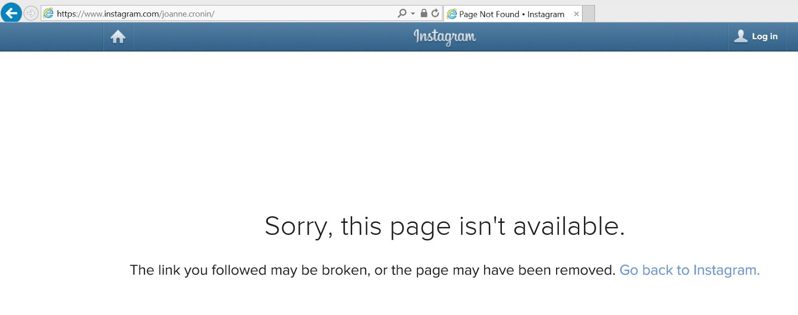 Help!! My Instagram account has disappeared | Stitch and Bear