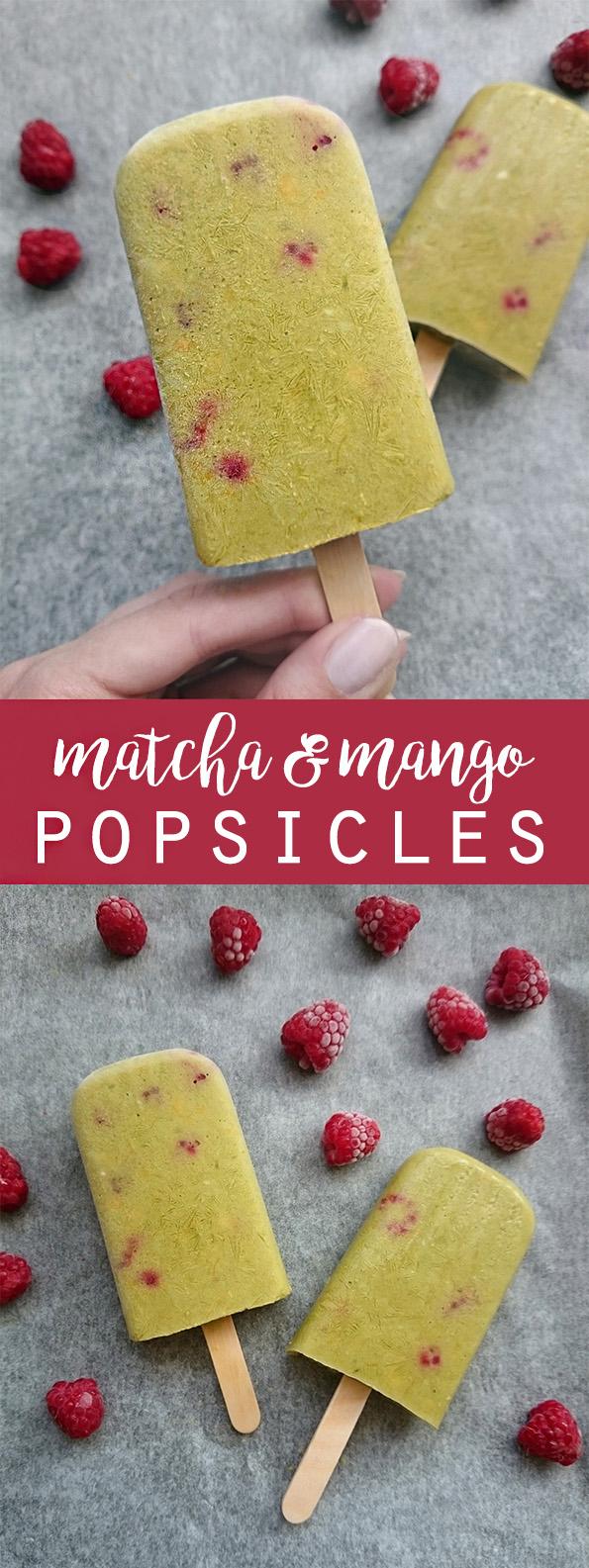 Matcha Mango Popsicles