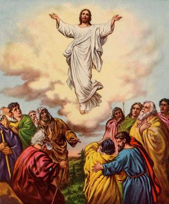 Resultado de imagem para Jesus subindo ao  ceu