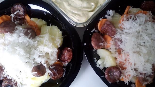 Recetas con chorizo criollo. Ensalada de patata y chorizo criollo