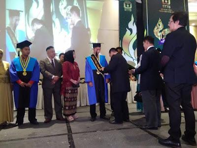 penghargaan kepada para mahasiswa sekolah tinggi teknologi bandung (STTB)
