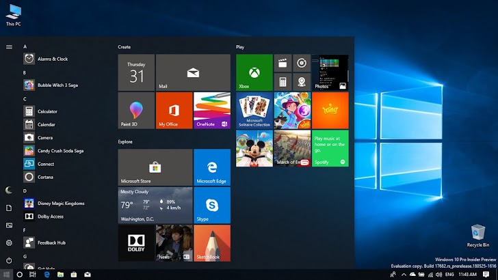 Windows 10 Insider Preview Build 17682 Dirilis, Apa Yang Baru?