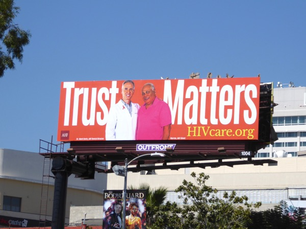 Trust Matters HIV care billboard