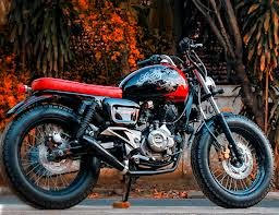 modifikasi motor pulsar 200cc style bobber