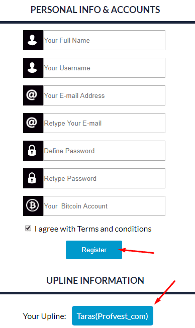 Регистрация в Bitwis 2