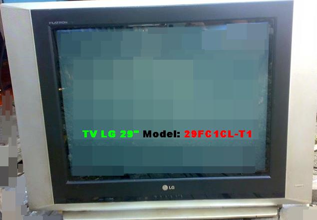 Gambar TV LG 29 Kerusakan Gambar Melebar