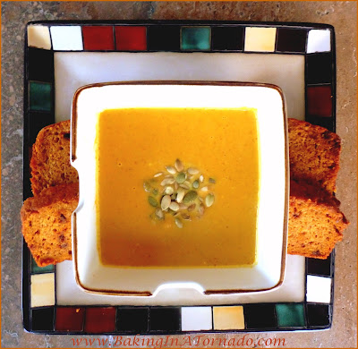 Harvest Soup: A warm and comforting meal for a cold Fall or Winter day or a perfect Thanksgiving or Christmas first course. | Recipe developed by www.BakingInATornado.com | #recipe #holiday #soup