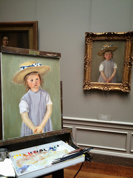 Art by Mary Cassatt Child in a Straw Hat