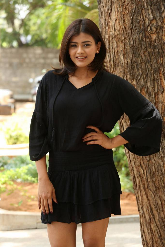 Hebah Patel At Angel Movie Trailer Launch Event Stills