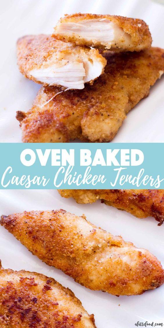 {Oven Baked} Chicken Caesar Tenders