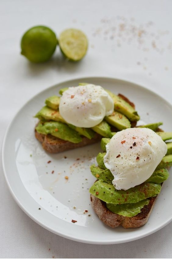 Avocado And Poached Egg Brunch Toast