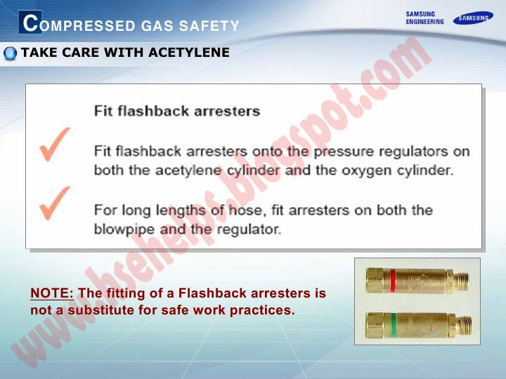 Acetylene Cylinder Safety