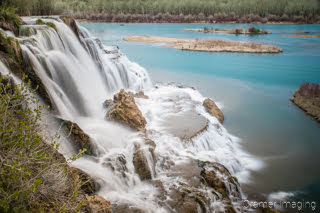 Cramer Imaging's fine art landscape photograph of silky water on the Falls Creek falls waterfall on the Snake River in Idaho
