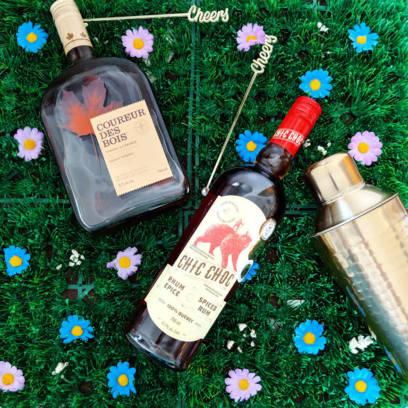 Cocktail d'été Rhum Chic-Choc et Coureur des bois