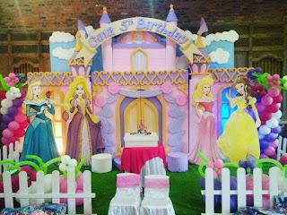 dekor ulang tahun princess