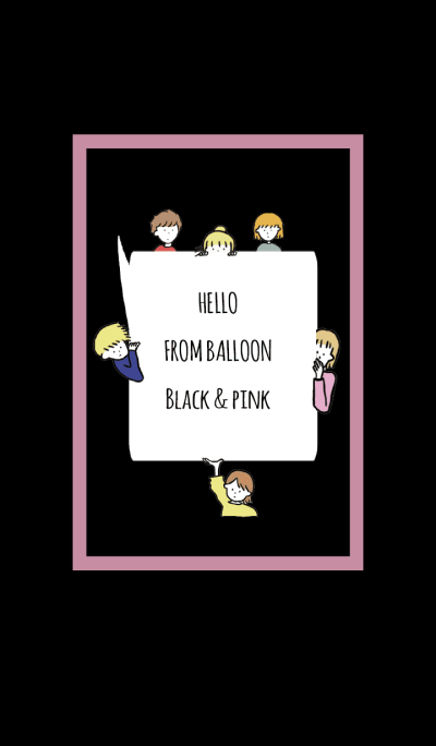 Black & Pink / hello from balloon