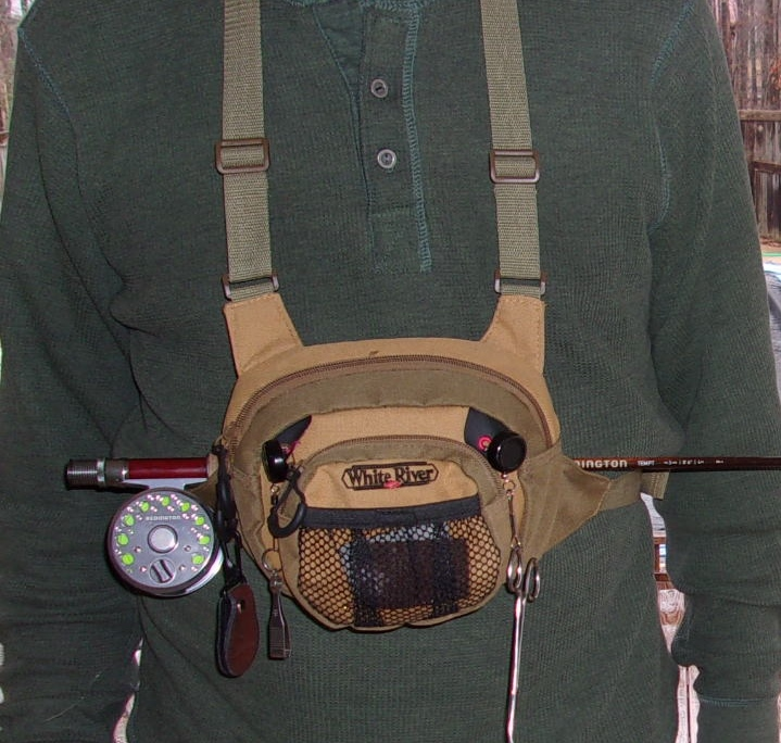 Fishing through life using your chest pack as a rod holder for Fishing backpack with rod holder