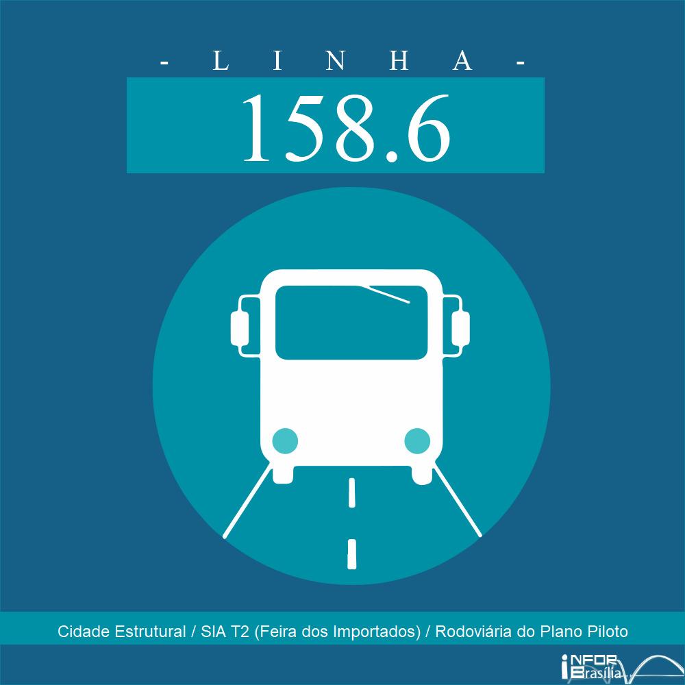 Horário de ônibus e itinerário 158.6 - Cidade Estrutural / SIA T2 (Feira dos Importados) / Rodoviária do Plano Piloto
