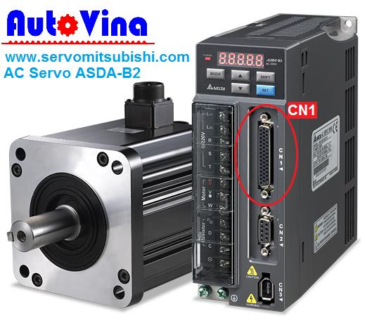 Vị trí rắc CN1 trên bộ Drive AC Servo ASD-B2-0721-B, hướng dẫn kết nối Servo Delta ASD-B2