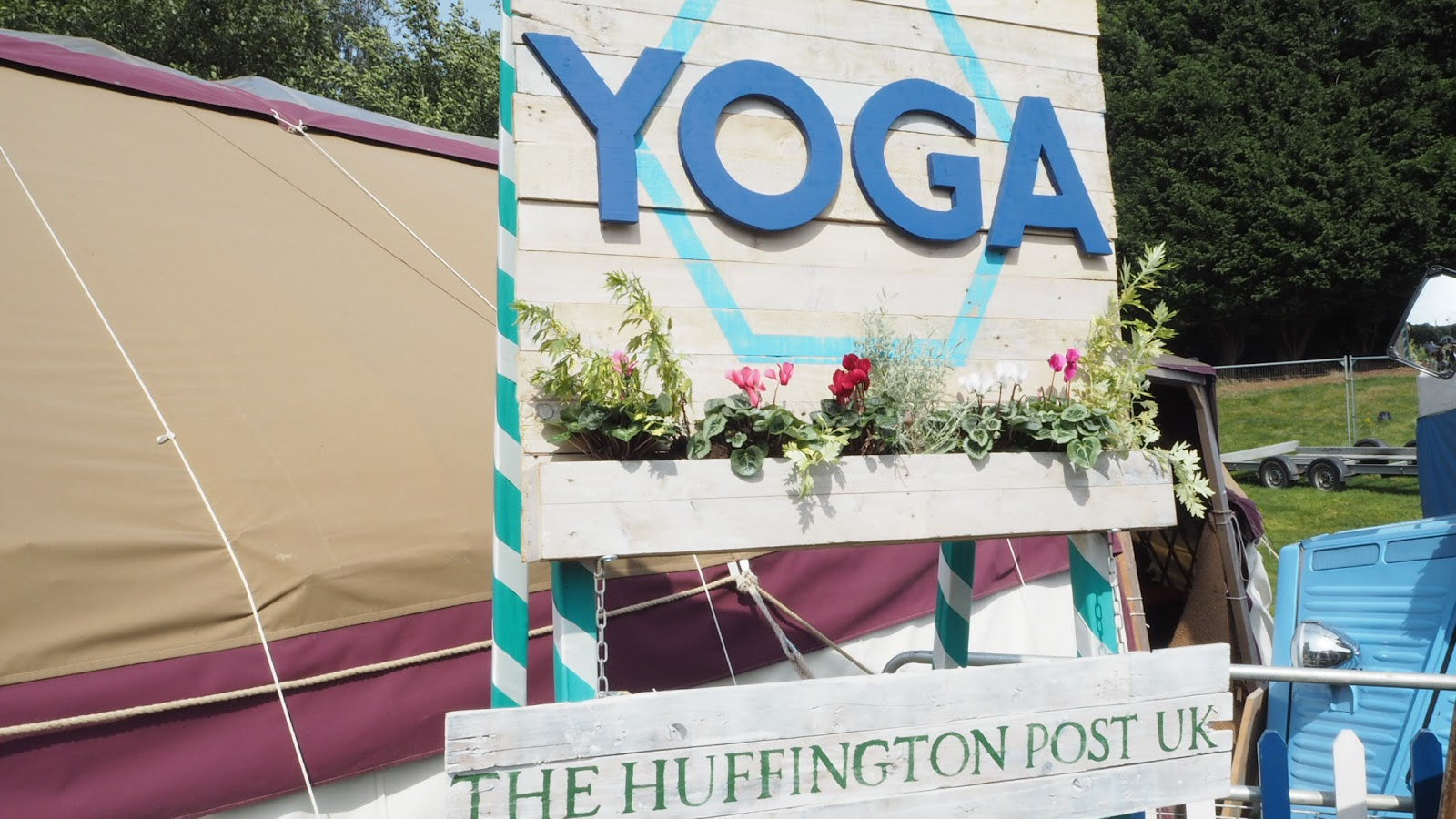 yoga tent | slow motion at bestival