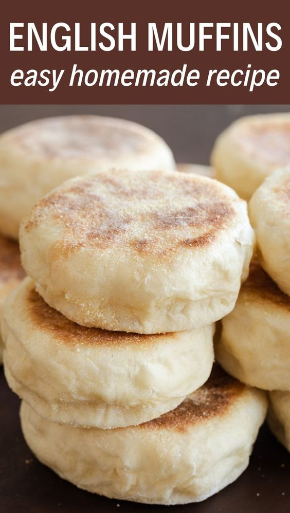 Homemade English muffins are so much easier than you think! This recipe is simple and will give you soft, chewy muffins in no time. Enjoy them with butter or your favorite jam!