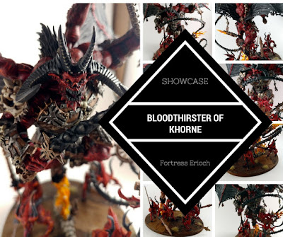 Bloodthirster of Khorne Showcase with Magnetized Bloodletter Base