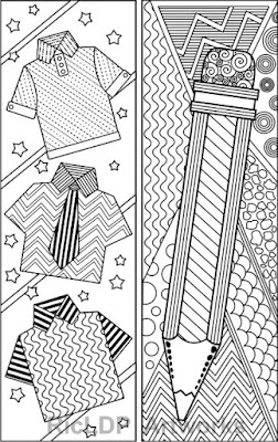 Abstract Pattern Coloring Bookmarks