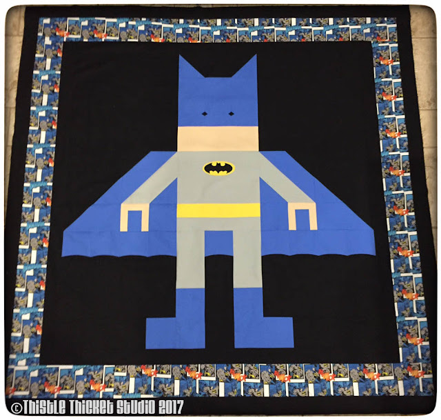 Thistle Thicket Studio, Lego Batman Quilt, Lego Batman, Batman