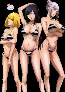 Prison School - Midorikawa Hana, Kurihara Mari, Shiraki Meiko Render 1