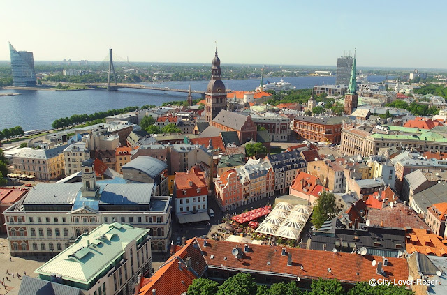 Riga - utsikt från St:Peterskyrkan
