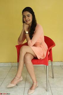Rukshar Mir in a Peachy Deep Neck Short Dress 070.JPG
