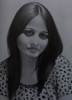 Realistic Pencil Art Of A Girl