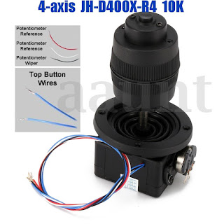 4-Axis 10KΩ Plastic Joystick Potentiometer Button for JH-D400X-R4 10K 4D + Wire