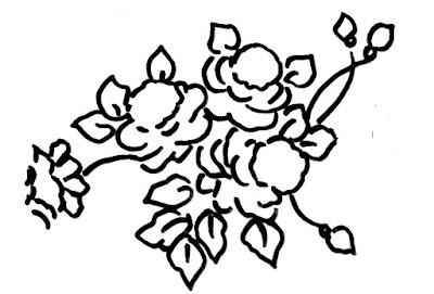desenho de rosas para pintar em tecido