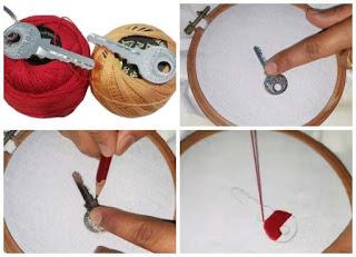 labores, bordar inusualmente, costura, manualidades
