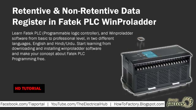 Retentive & Non-Retentive Data Register in Fatek PLC