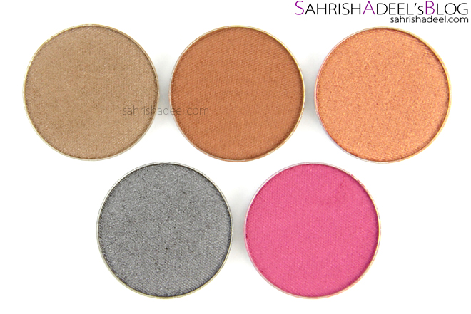 Makeup Geek Pressed Eyeshadows - Review & Swatches