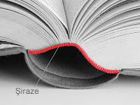 Kırmızı renkli bir kitap şirazesi