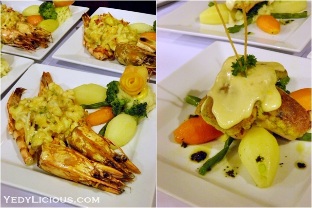 Prawn and Sword Fish at Don Vito of Boracay Mandarin island Hotel