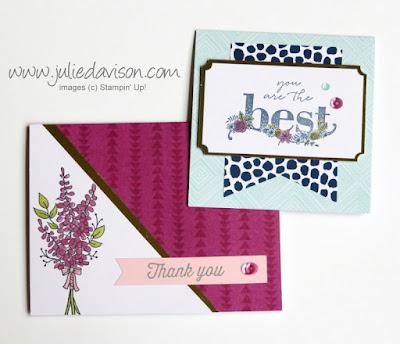 Stampin' Up! 7 Color Me Happy Kit Sale-a-Bration Cards ~ www.juliedavison.com ~ PLUS VIDEO of Facebook Live demo