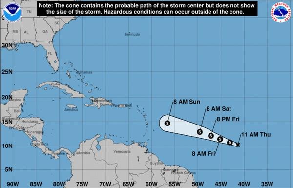 Se formó la tormenta tropical Beryl en el Atlántico