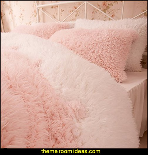 Pink And White Duvet Cover Set Princess Bedding Girls Bedding Women Bedding