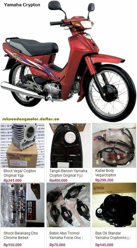 Daftar Harga Onderdil Yamaha Crypton